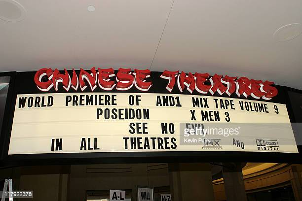 Signage during And1 Mixtape Tour Volume 9 Premiere at Mann's Chinese Six in Hollywood California United States