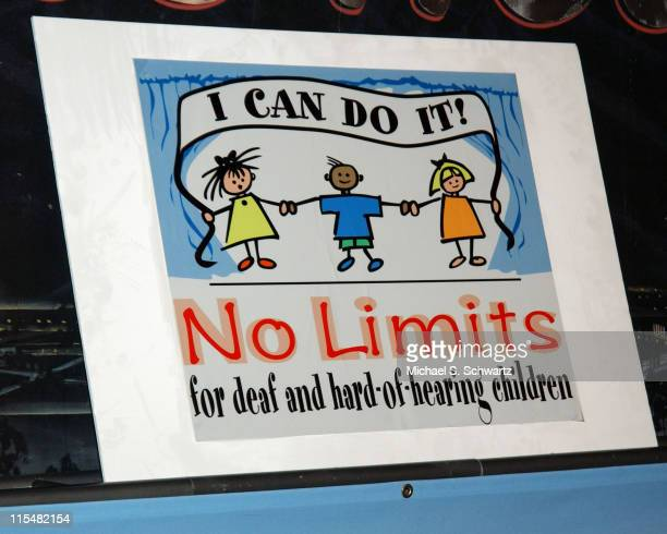 Signage during No Limits for Deaf and Hard-of-Hearing Children Benefit at The Ice House - April 3, 2005 at The Ice House in Pasadena, California,...