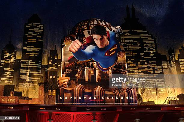 Signage during Superman Returns Special Screening Hosted by The Palms Hotel and Casino Resort and 944 Magazine at Brenden Theatres at The Palms Hotel...