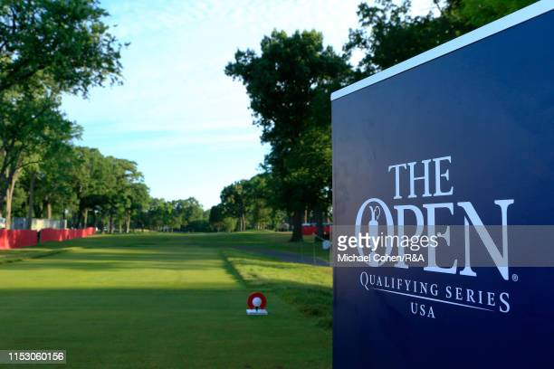 Signage during The Open Qualifying Series, part of the Rocket Mortgage Classic at Detroit Golf Club on June 30, 2019 in Detroit, Michigan.