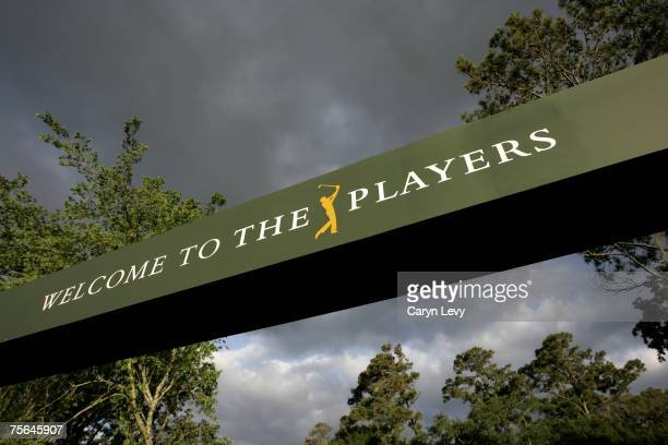 Signage during the practice round for THE PLAYERS Championship held on THE PLAYERS Stadium Course at TPC Sawgrass in Ponte Vedra Beach, Florida, on...