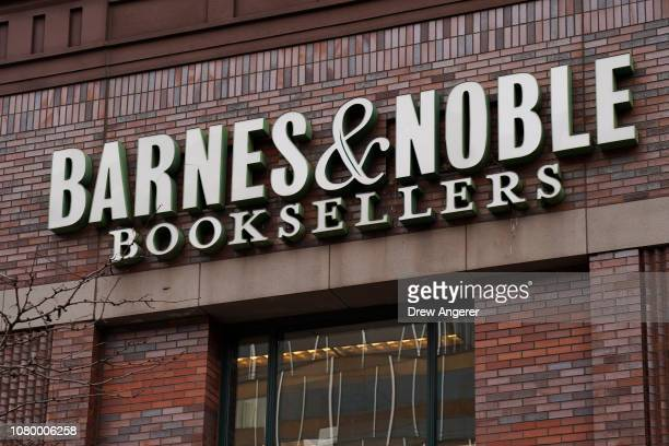 Signage for a Barnes & Noble bookstore is displayed on the side of the store, January 10, 2019 in the Brooklyn borough of New York City. On Thursday,...