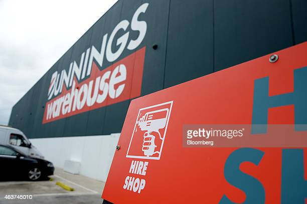 Do it yourself store chain stock photos and pictures getty images signage for a hire shop is displayed outside a bunnings warehouse store operated by westfarmers ltd solutioingenieria Gallery