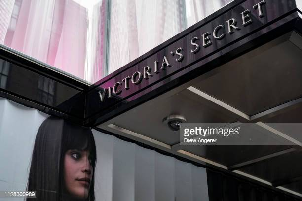 Signage for a Victoria's Secret store stands in Midtown Manhattan, March 1, 2019 in New York City. Victoria's Secret is closing 53 more stores, its...