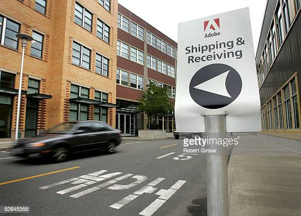 Signage for Adobe's Freemont offices is seen April 18 2005 in Seattle Washington Adobe Systems Inc one of the worlds largest providers of...
