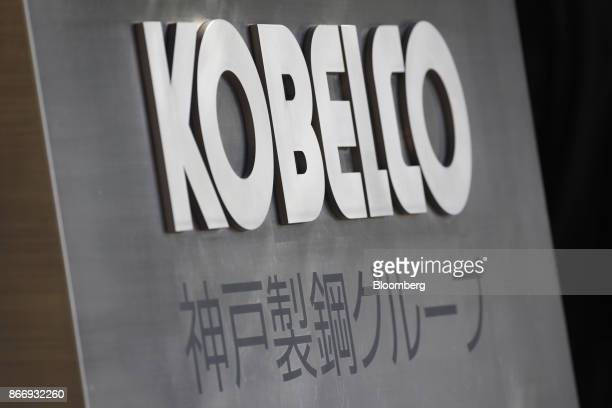 Signage for Kobe Steel Ltd stands outside the company's offices in Tokyo Japan on Friday Oct 27 2017 Kobe Steel said yesterday it found four...