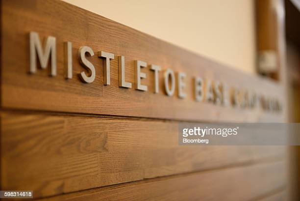 Signage for Mistletoe Inc is displayed at the Mistletoe Base Camp Tokyo office in Tokyo Japan on Tuesday Aug 30 2016 When he launched Mistletoe three...