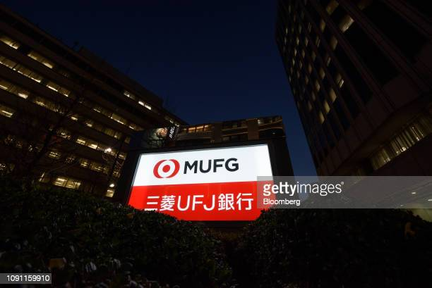 Signage for MUFG Bank Ltd a unit of Mitsubishi UFJ Financial Group Inc stands in Tokyo Japan on Tuesday Jan 29 2019 MUFG is scheduled to release...
