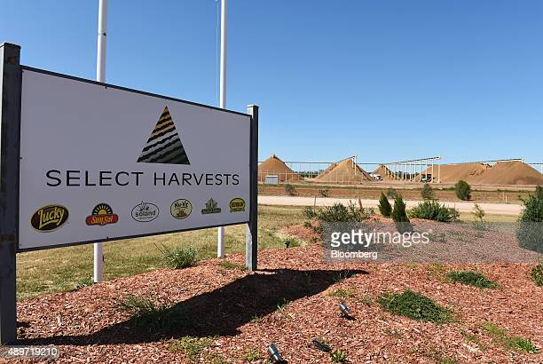 Signage for Select Harvest Ltd stands at the entrance to the company's plant near Wemen Victoria Australia on Wednesday Sept 23 2015 Bees responsible...