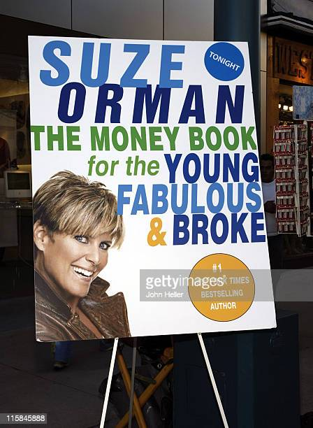 Signage for Suze Orman's The Money Book for the Young Fabulous Broke