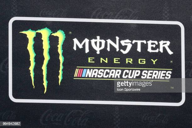 Signage for the Coke Zero 400 Monster Energy Cup Series race on July 7 at Daytona International Speedway in Daytona Beach FL