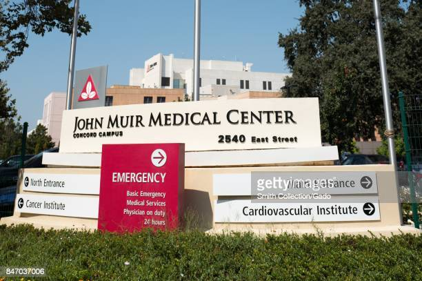 Signage for the John Muir Medical Center, part of the regional John Muir Health system, in downtown Concord, California, September 8, 2017. .