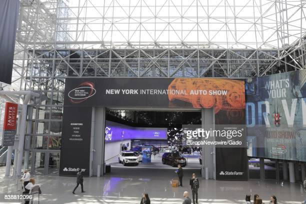 Signage for the New York International Auto Show at Jacob K Javits Convention Center in New York City New York April 13 2017