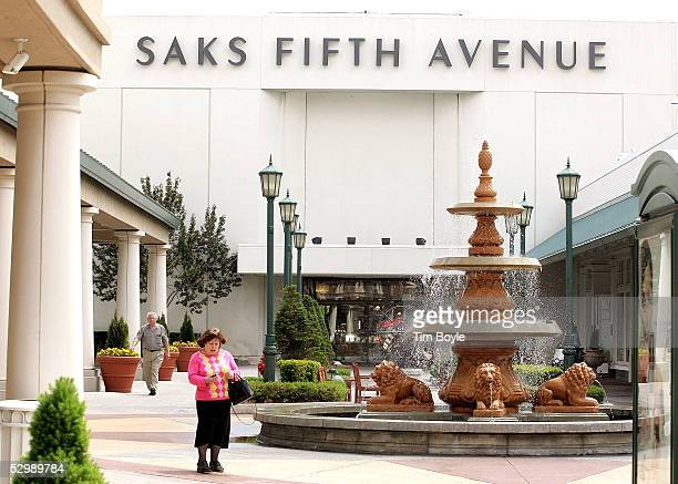 Signage for the Saks Fifth Avenue department store is seen at Old Orchard shopping center May 27 2005 in Skokie Illinois Saks Fifth Avenue...