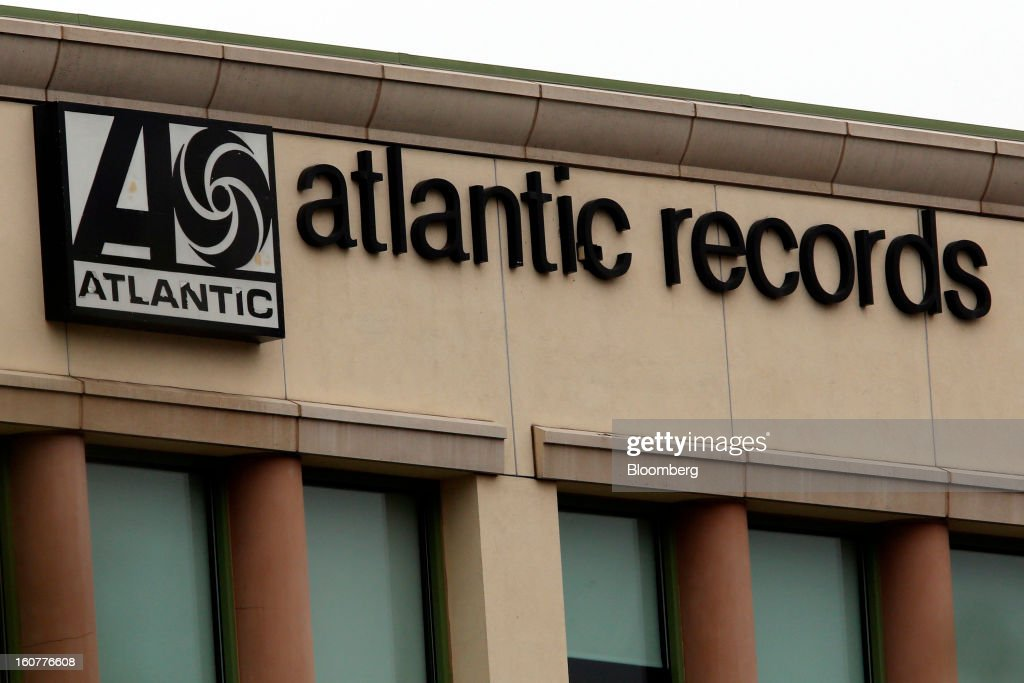 Signage for Warner Music Group's Atlantic Records is