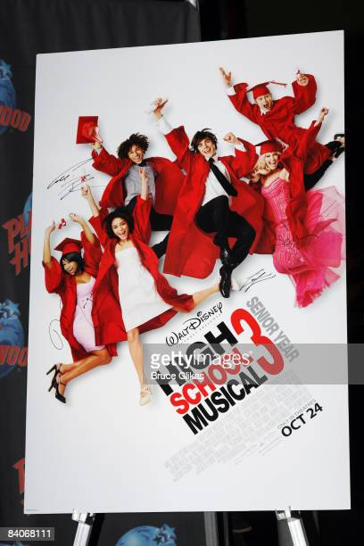 Signage from High School Musical 3 on October 22 2008 at Planet Hollywood Times Square in New York City