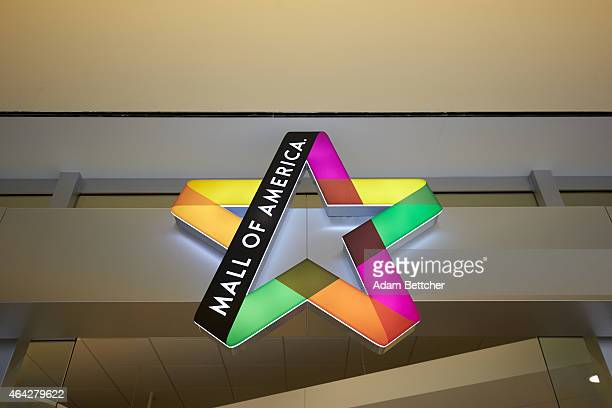 Signage hangs at Mall of America during a media tour of its security systems on February 23, 2015 in Bloomington, Minnesota. In a newly released...