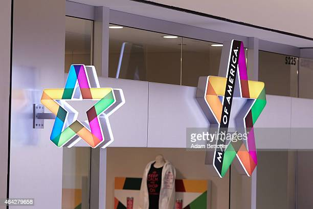 Signage hangs at Mall of America during a media tour of its security systems on February 23 2015 in Bloomington Minnesota In a newly released video...
