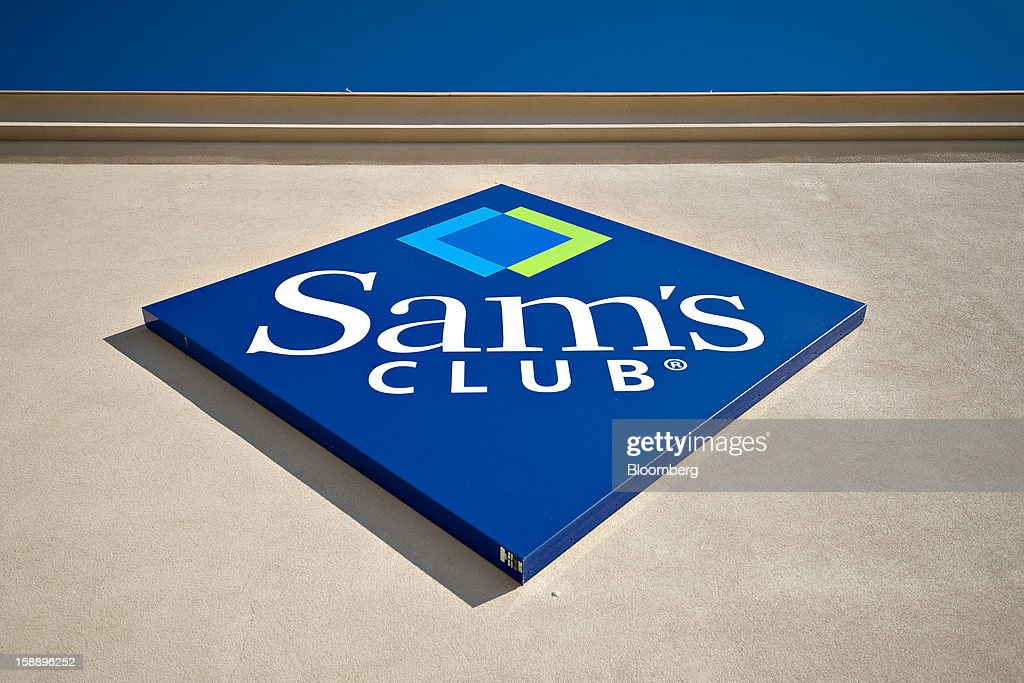 Signage hangs outside a Sam's Club store in Peoria, Illinois, U.S., on Wednesday, Jan. 2, 2013. The International Council of Shopping Centers is scheduled to release U.S. chain store sales data on Jan. 3. Photographer: Daniel Acker/Bloomberg via Getty Images