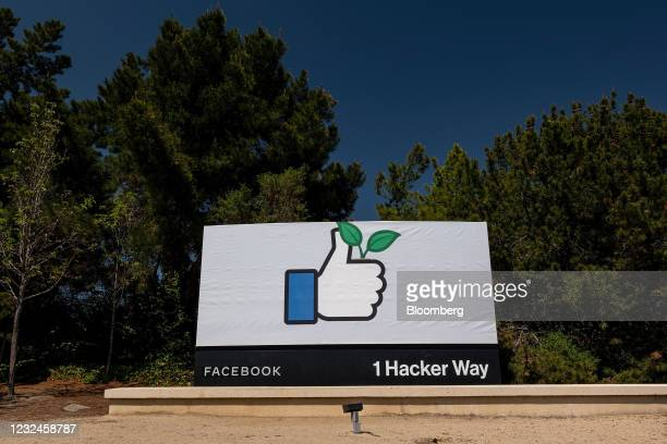 Signage in front of the Facebook Inc. Headquarters in Menlo Park, California, U.S., on Wednesday, April 21, 2021. Silicon Valley has the lowest...