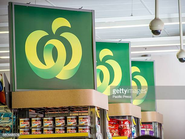 Signage inside Woolworths' flagship store pictured as Woolworths revealed 500 jobs will go in back office and supply roles as part of an overhaul of...