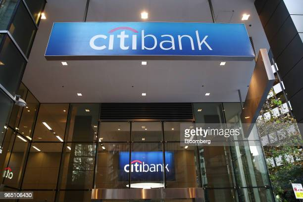 Signage is displayed at a Citigroup Inc Citibank branch in Sydney Australia on Friday June 1 2018 Australia's banking industry faces an unprecedented...