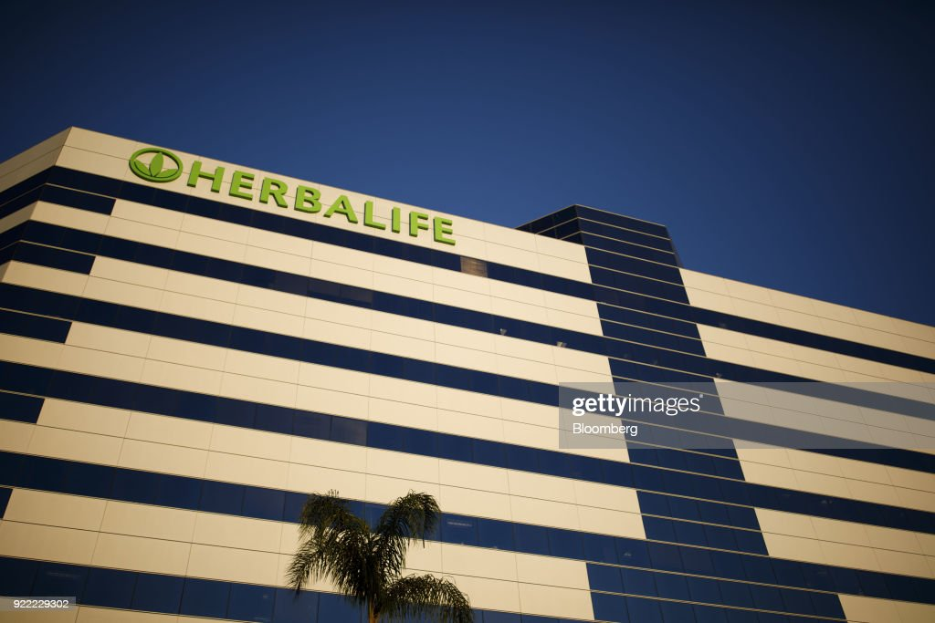 Herbalife Plaza And Headquarters Ahead Of Earnings Figures : News Photo