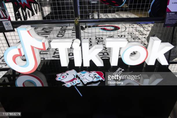 Signage is displayed at the TikTok Creator's Lab 2019 event hosted by Bytedance Ltd in Tokyo Japan on Saturday Feb 16 2019 TikTok is a subsidiary of...