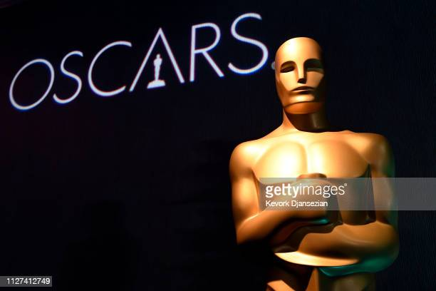 Signage is displayed during the 91st Oscars Nominees Luncheon at The Beverly Hilton Hotel on February 04 2019 in Beverly Hills California