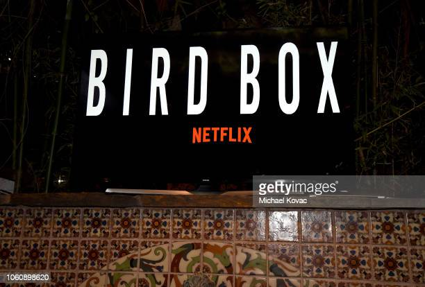 Signage is displayed during the Bird Box after party in the Roosevelt Ballroom during AFI FEST 2018 on November 5 2018 in Los Angeles California
