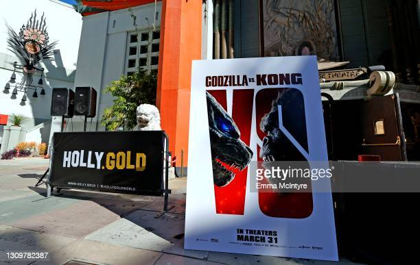Signage is displayed during the post-pandemic reopening and ribbon cutting ceremony hosted by TCL Chinese Theatre on March 29, 2021 in Hollywood,...