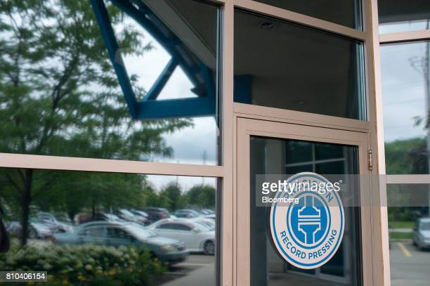 Signage is displayed on a door of the Precision Record Pressing facility in Burlington Ontario Canada on Friday June 30 2017 Precision is the world's...