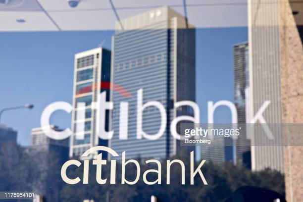 Signage is displayed on a window at a Citigroup Inc. Citibank branch in Chicago, Illinois, U.S., on Saturday, Oct. 12, 2019. Citigroup is scheduled...