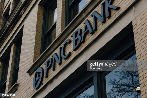 Signage is displayed on the exterior of a PNC Financial Services Group Inc bank branch in Birmingham Alabama US on Wednesday April 11 2018 PNC...