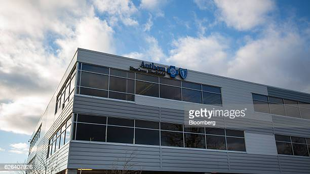 bluecross blueshield office building architecture. Signage Is Displayed On The Exterior Of An Anthem Inc Blue Cross Shield Office Building Bluecross Blueshield Architecture