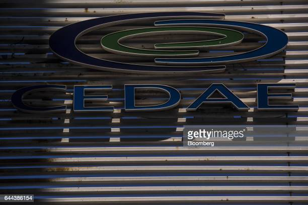 Signage is displayed on the exterior of Cia Esadual de Aguas e Esgotos headquarters in Rio de Janeiro Brazil on Thursday Feb 23 2017 Rio de Janeiro's...