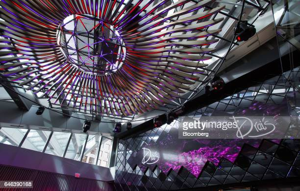 Signage is displayed on the floor of the Drais Nightclub at the Trump International Hotel Tower in Vancouver British Columbia Canada on Tuesday Feb...
