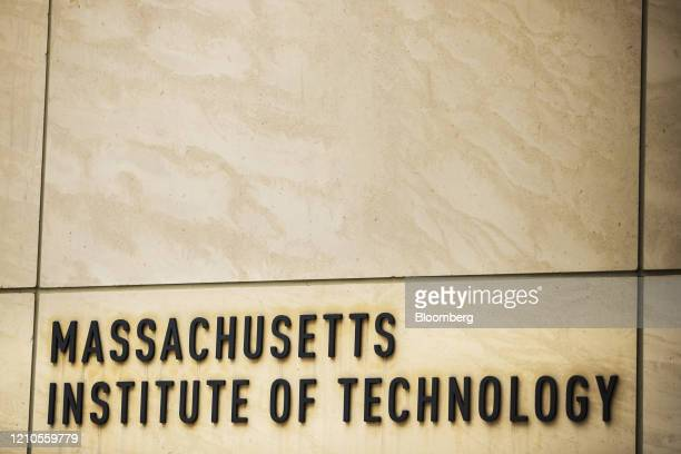 Signage is displayed on the Massachusetts Institute of Technology campus in Cambridge Massachusetts US on Monday April 20 2020 Collegefinancial aid...