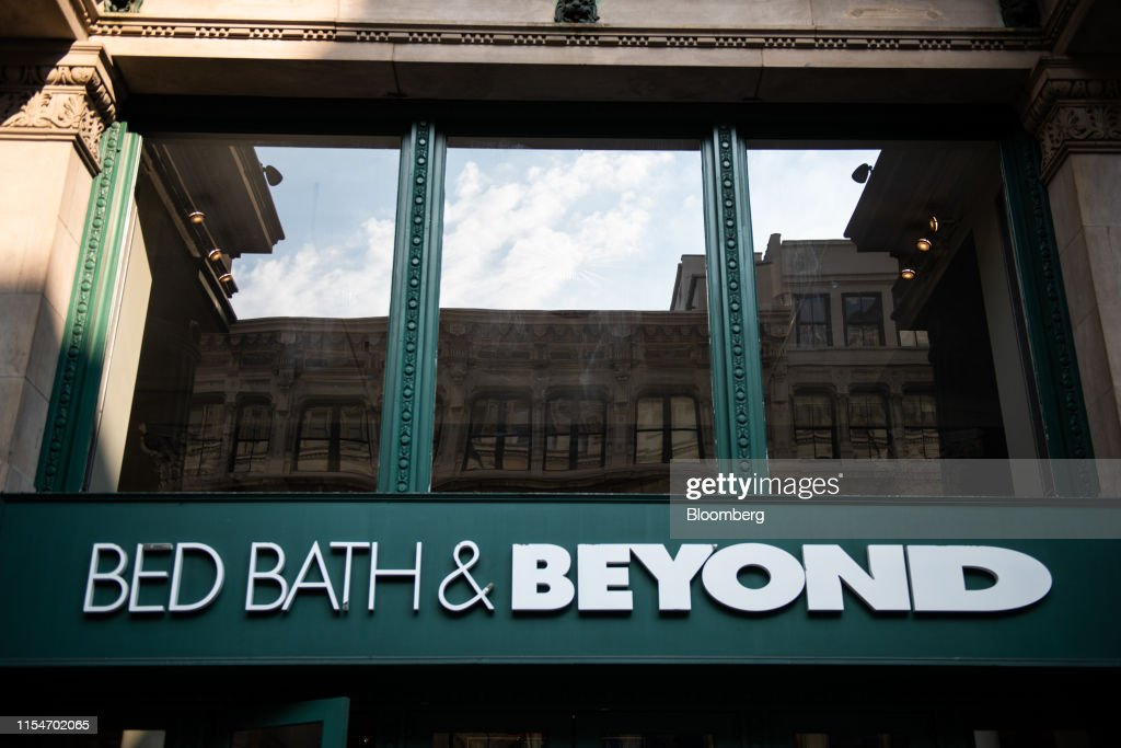 Signage Is Displayed Outside A Bed Bath Beyond Inc Store