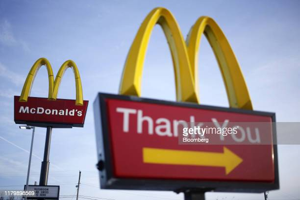 Signage is displayed outside a McDonald's Corp fast food restaurant in Carrolton Kentucky US on Monday Jan 21 2019 McDonalds Corp fired Chief...