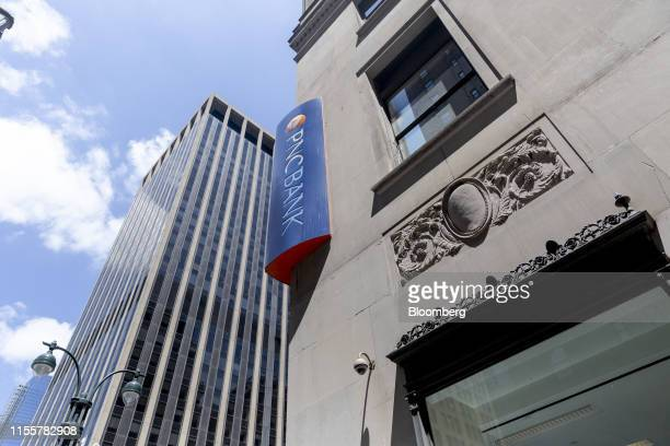 Signage is displayed outside a PNC Financial Services Group Inc bank branch in New York US on Saturday July 13 2019 PNC Financial Services Group Inc...