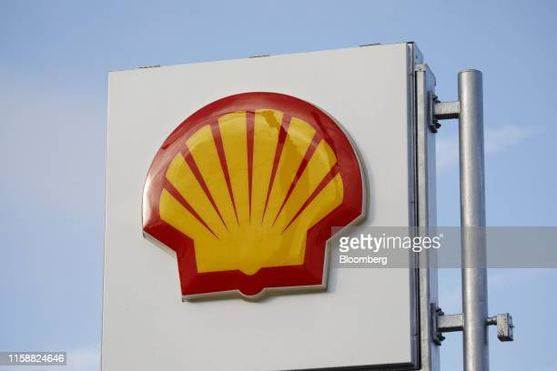 Signage is displayed outside a Royal Dutch Shell Plc gas station in Redondo Beach California US on Sunday July 28 2019 Royal Dutch Shell is scheduled...