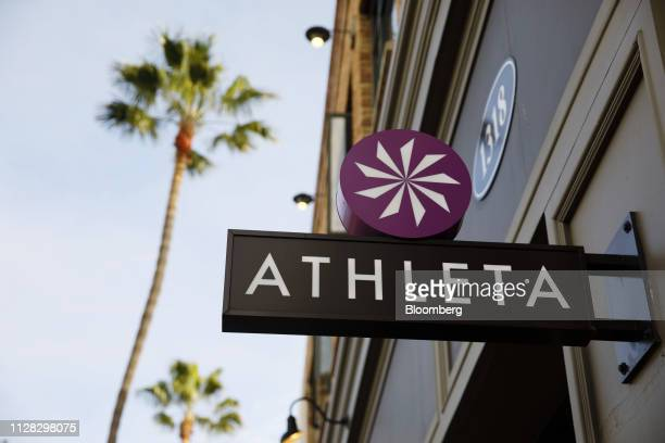 Signage is displayed outside an Athleta Inc store on the Third Street Promenade in Santa Monica California US on Thursday Feb 28 2019 Gap Inc's plans...