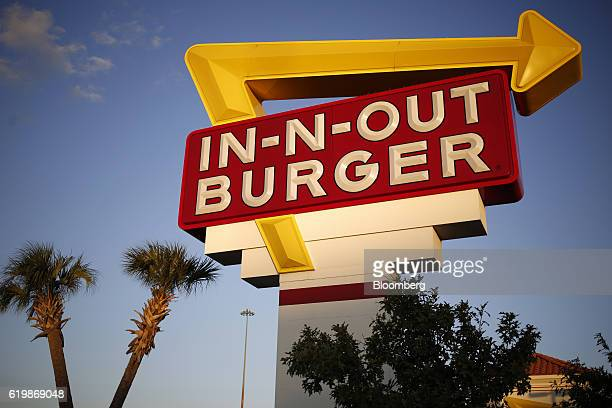 Signage is displayed outside an InNOut Burger restaurant in Fort Worth Texas US on Monday Oct 24 2016 Good Food Institute has started a petition to...