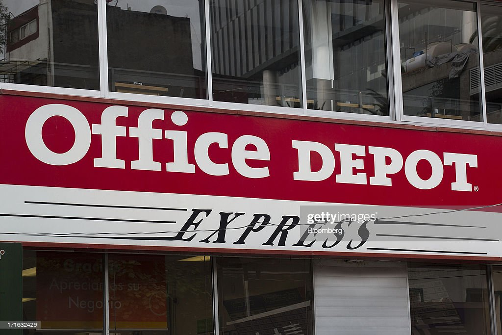 Signage Is Displayed Outside An Office Depot Inc. Express Store In Mexico  City, Mexico