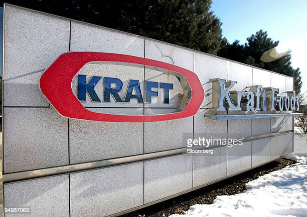 Signage is displayed outside Kraft Foods Inc's corporate headquarters in Northfield Illinois US on Wednesday Feb 4 2009 Kraft Foods Inc the world's...