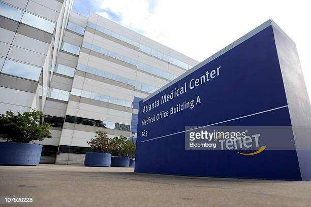 Signage is displayed outside of Tenet Healthcare's Atlanta Medical Center in Atlanta Georgia US on Friday Dec 10 2010 Community Health Systems Inc's...