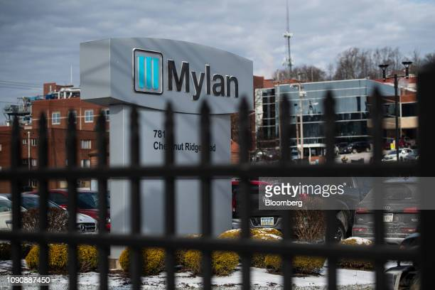 Signage is displayed outside of the Mylan NV facility in Morgantown West Virginia US on Tuesday Jan 22 2019 The day before Donald Trump was elected...