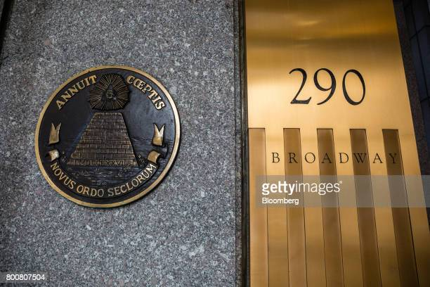 Signage is displayed outside of the Ted Weiss Federal Building which houses offices of the Internal Revenue Service in New York US on Saturday June...
