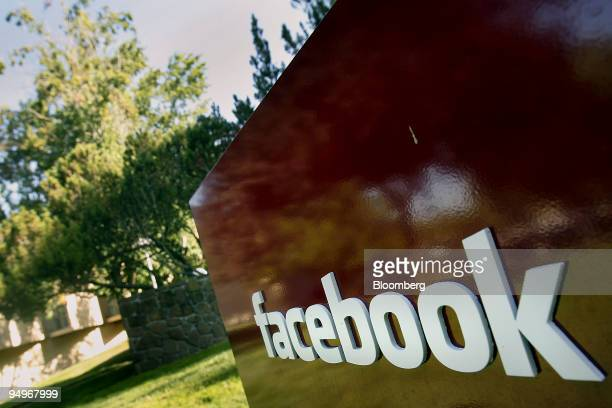 Signage is displayed outside the headquarters of Facebook Inc in Palo Alto California US on Tuesday Sept 8 2009 Facebook Inc had 65 million mobile...